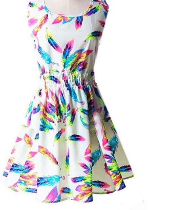 Woman Beach Dress Summer ,Plus Size Floral Dress 2020