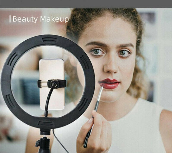 USB 10-inch adjustable  Selfie ring light, studio makeup light LED