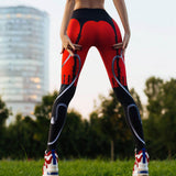 Sexy Leggings Women Red Black