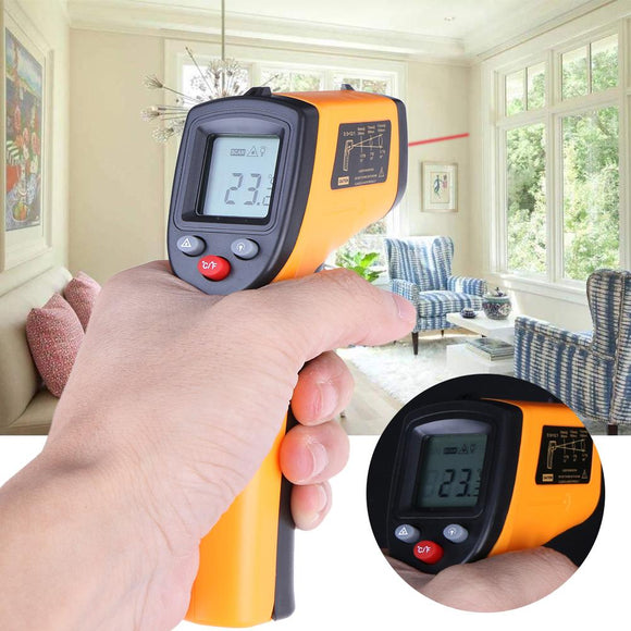 - 50-380 Degree Centigrade Plastic Handheld Non-Contact Infrared Thermometer