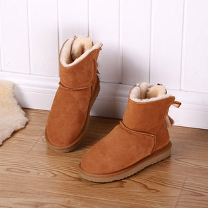 Leather Short  Short Ankle  Snow Boots with Warm .