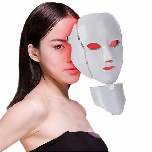 Therapy Led Facial Mask Skin Rejuvenation  Acne Anti Wrinkle Face Neck Beauty Spa Instrument. 7 colors