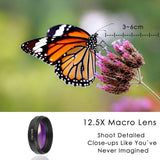 2-in-1 Phone Lens kit 0.45x Super Wide Angle & 12.5x Super Macro Lens HD Camera Lentes for iPhone 6S 7 Xiaomi Samsung