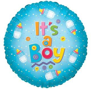 """It's a boy"" baby balloon ad on for your baby gift basket."