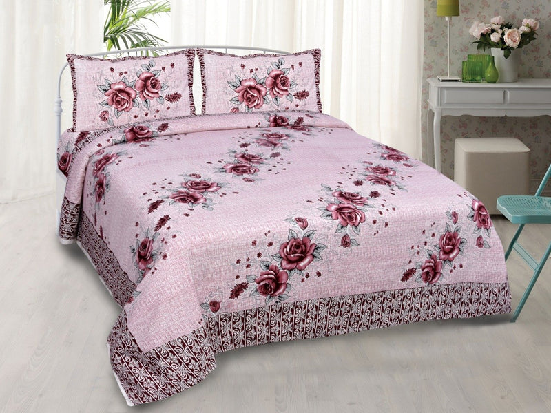 Cotton Printed Floral Double Bedsheet