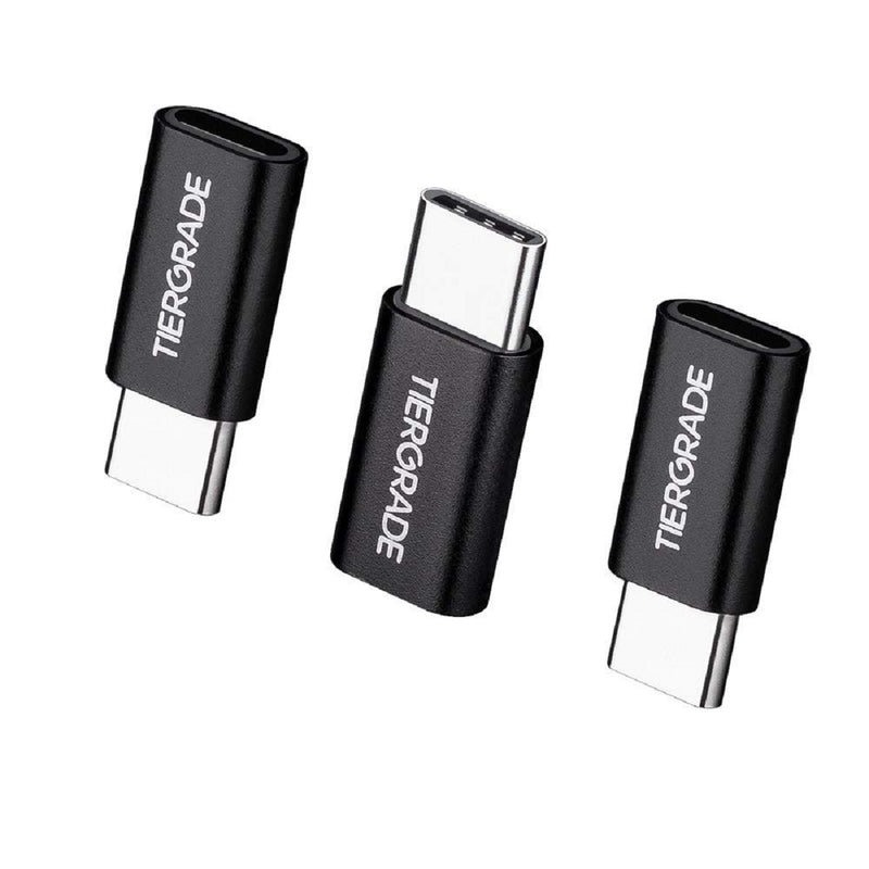 Tiergrade USB to Type C adapter 3 Pack