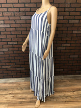 Load image into Gallery viewer, Striped Tiered Maxi Dress