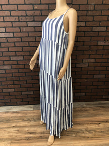 Striped Tiered Maxi Dress