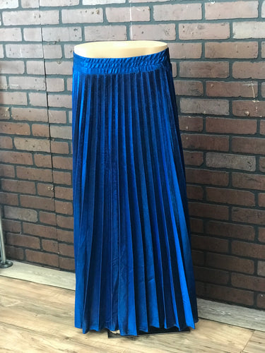 Blue Metallic skirt