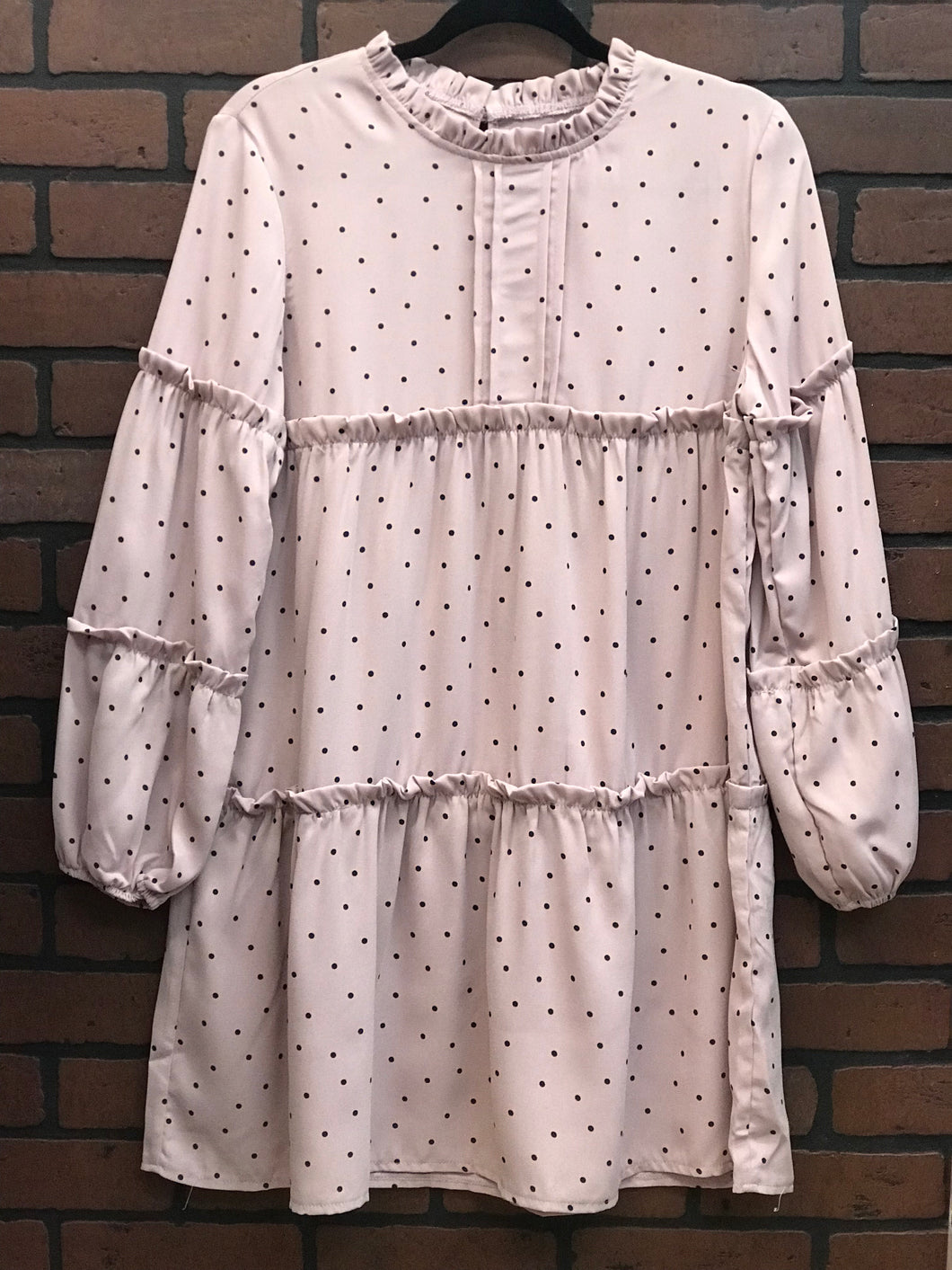 Polka Pleated tunic