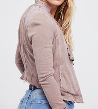 Load image into Gallery viewer, Free People SHRUNKEN MOTO CARDI
