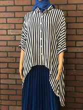 Load image into Gallery viewer, Navy Blue and white stripe Tunic