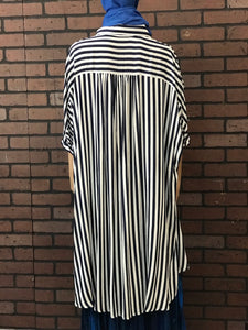 Navy Blue and white stripe Tunic