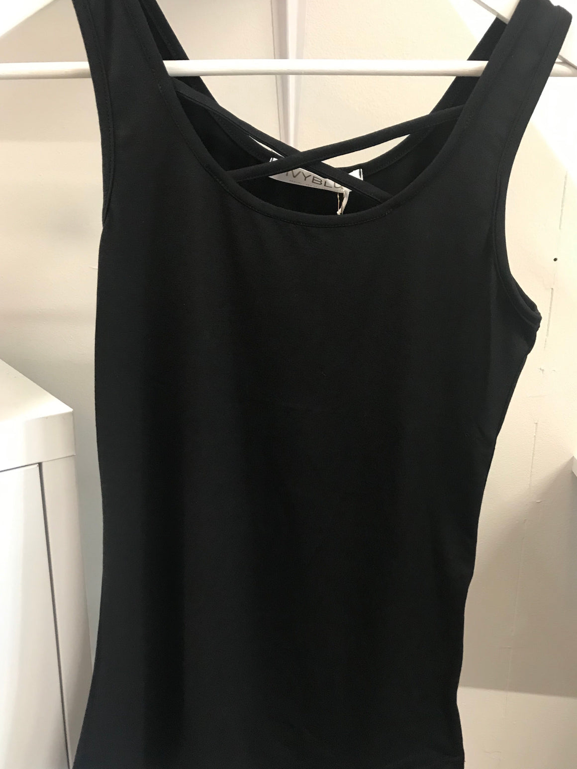 IvyBlu Eve Tank Black - Trio Boutique Geraldine