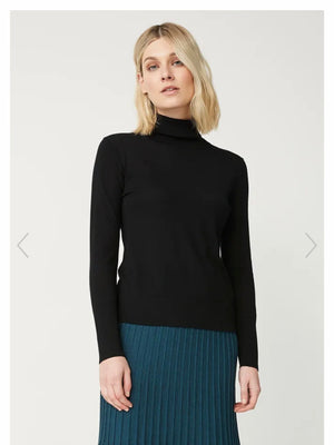 Toorallie Roll Neck Jersey-Black