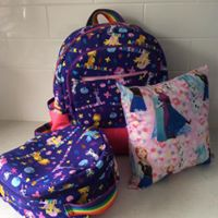 Starting School Pack - Backpack, lunchbag and cushion