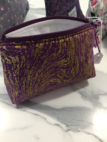 Purple & Gold Small Handmade Essential Oil Bag