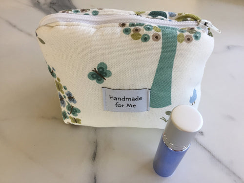 Handmade 'Tree of Life' Print Essential Oil Roller Bag