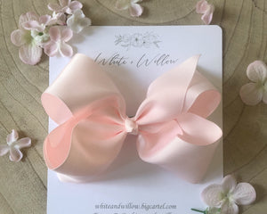 Large Harmony Bow ~Tea Rose