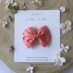 Melody Bow -Peachy Pink