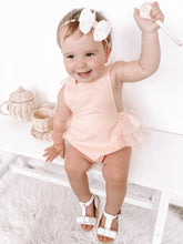 Load image into Gallery viewer, Luella Ruffle Bum Romper-New Peachy Pink