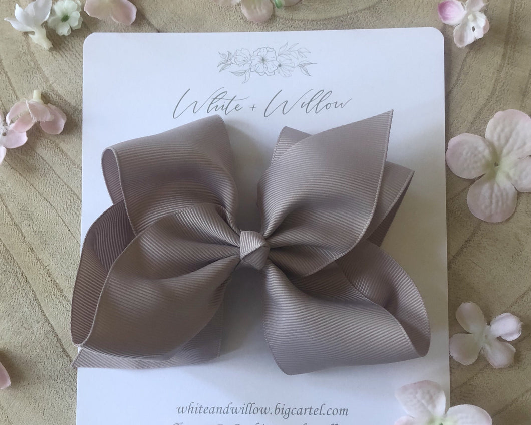 Large Harmony Bow ~Dove Grey