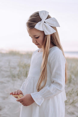 Linen Sailor Bow -Off White