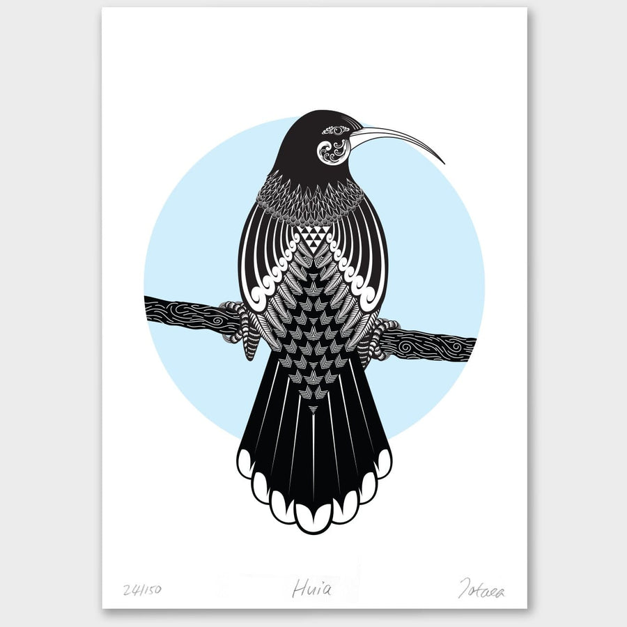 Bird Art Prints Art Print Huia Limited Edition Print