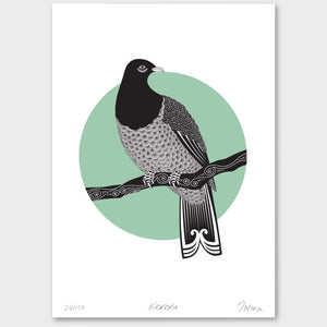 Bird Art Prints Art Print Kereru Limited Edition Print