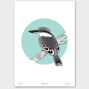 Bird Art Prints Art Print Kotare Limited Edition Art Print