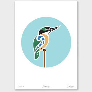 Bird Art Prints Art Print Kotare Limited Edition Print