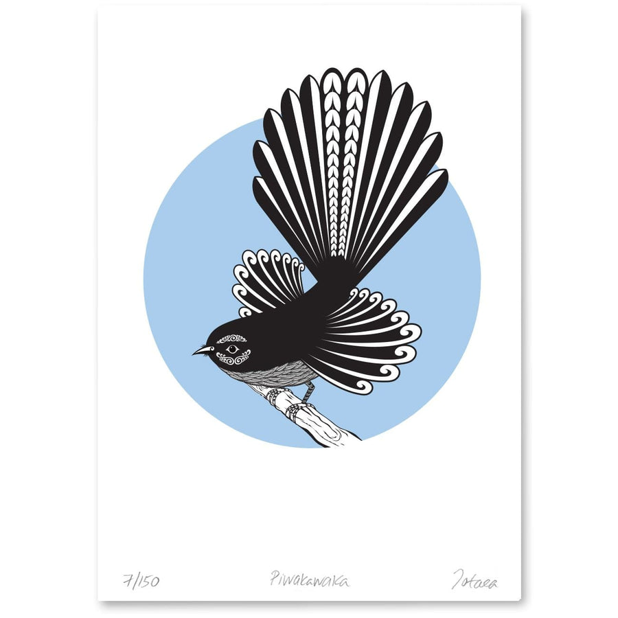 Bird Art Prints Art Print Piwakawaka Limited Edition Print