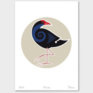 Bird Art Prints Art Print Pukeko Limited Edition Print
