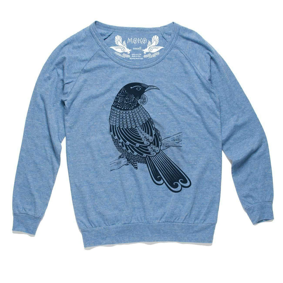 Brand: MOKO Long Sleeve XS / HEATHERED BLUE Tui Slouch Womens Long Sleeve