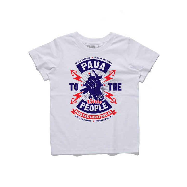 Brand: Paua Frita Kids Tee Shirt Paua to the People KIDS TEE