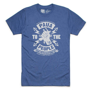 Brand: Paua Frita Tee Shirt SMALL / HEATHERED BLUE Paua to the People MENS TEE
