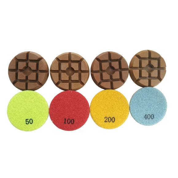 "Dry 3"" Resin Diamond Floor Polishing Pads for Concrete Terrazzo"
