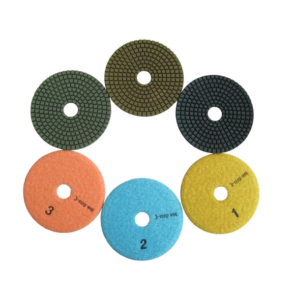 "4""Wet 3 Step Polishing Pads for Granite"