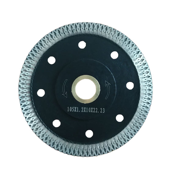 "4""  105 mm X Turbo Diamond Porcelain Tile Cutting Saw Blade"