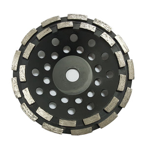Double Row Hot Press Sintered Diamond Cup Concrete Grinding Wheel