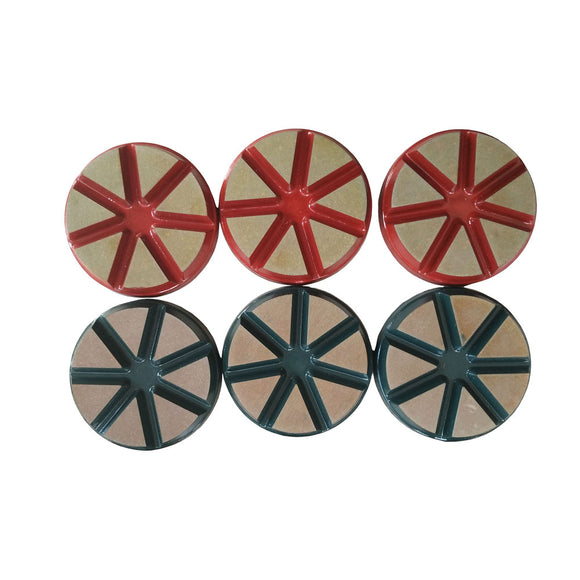 "Dry 3"" Ceramic Bond Diamond Polishing Pad for Concrete Terrazzo Floor"
