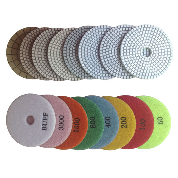 "4""100 mm Wet Diamond Marble Polishing Pads for Marble"