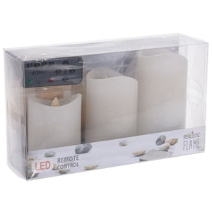 Flammande ljus LED |3-pack