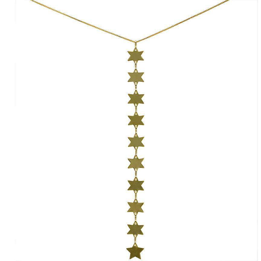 Rigel Star Lariat Necklace Gold