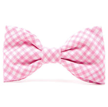 Load image into Gallery viewer, Carnation Gingham Dog Bow Tie