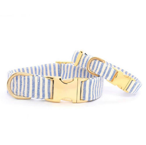 French Blue Stripe Dog Collar