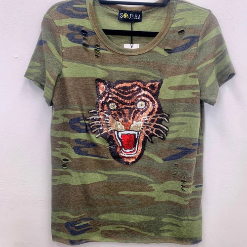 Embellished Tiger Tee