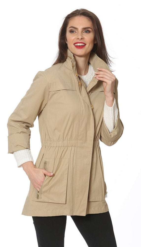 Tess Anorak Jacket  in Khaki
