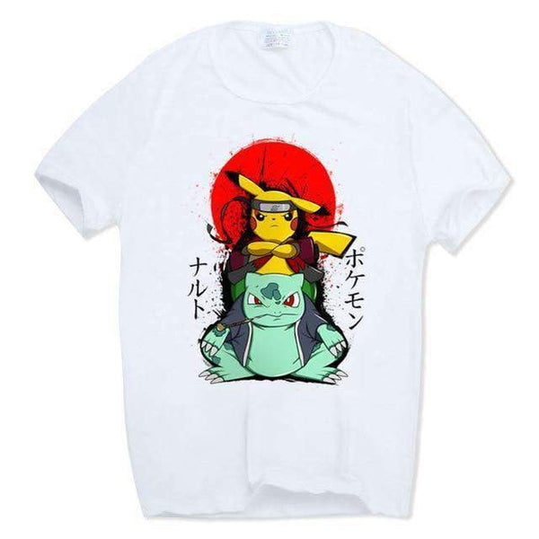 Pokemon Naruto Anime Collab T Shirt
