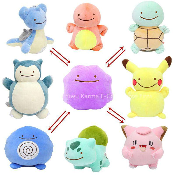 Pokemon Ditto Inside-Out Plushies